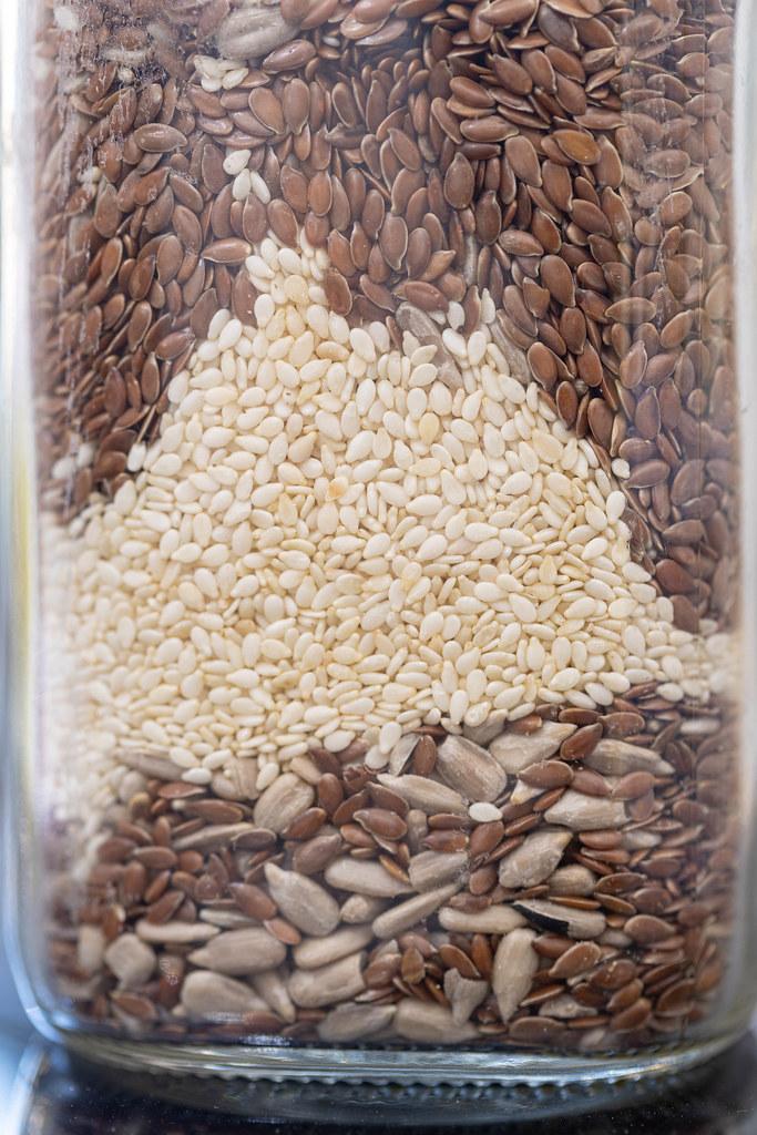 Flax Sunflower and Sesame Seeds