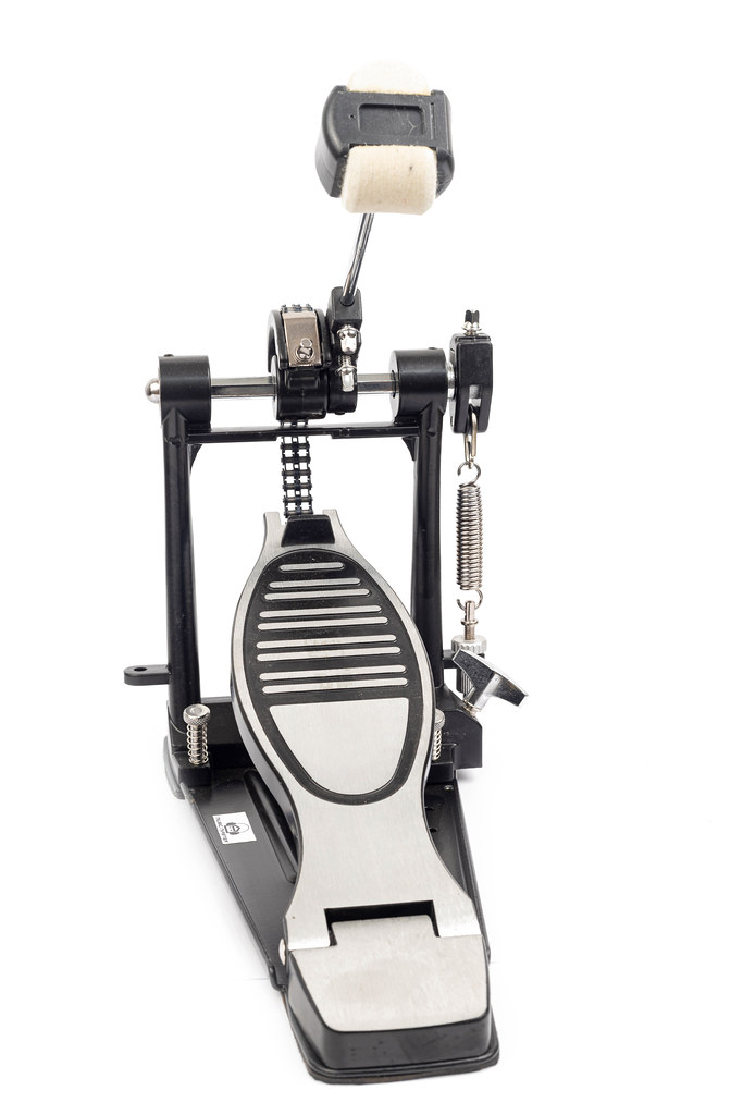 Kick Drum Pedal for a bass drum above white background