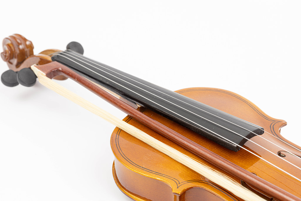 Violin Neck isolated above white background