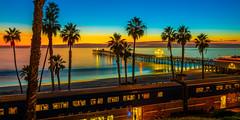 Surfliner Metroliner Train San Clemente Pier Southern California Fine Art Fuji GFX100 Landscape Photography! Ocean Art Seascape!  Elliot McGucken Master Medium Format Landscape Nature Photography Fuji GFX 100 FUJINON  FUJIFILM GF 32-64mm f/4 R LM WR Lens