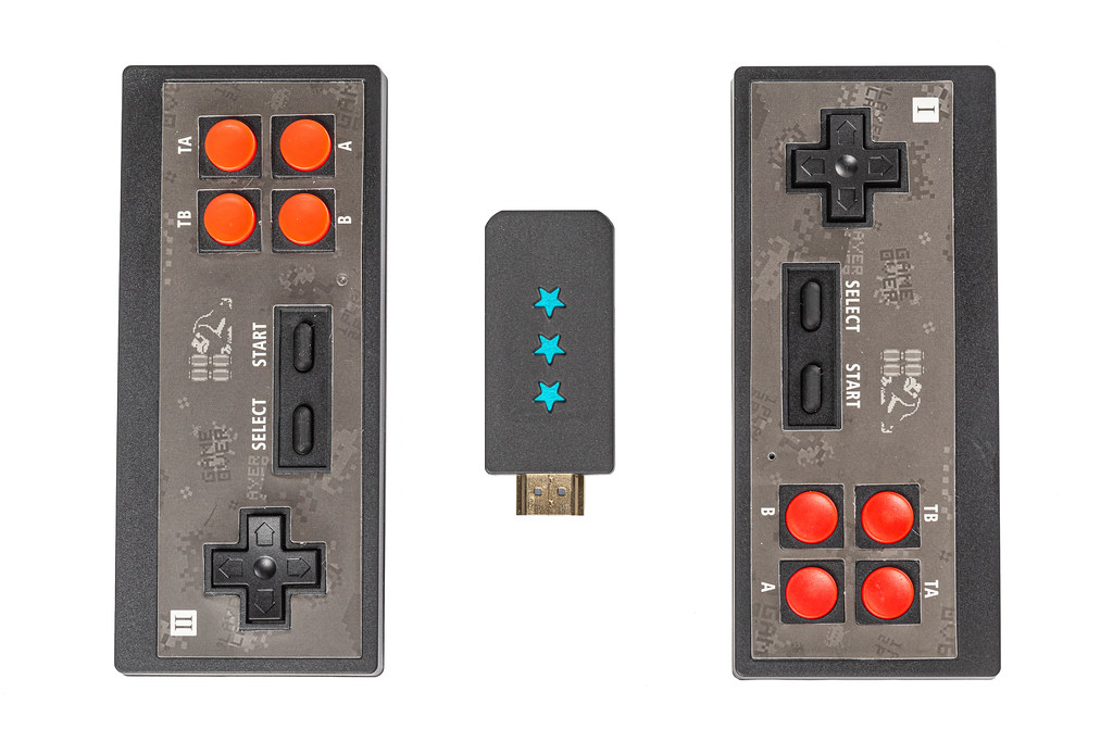Top view set for playing eight bit games