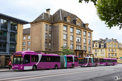 Citéline / Volvo 7500A n°4417 Ex-Göteborgs Spårvägar AB n°980 puis Ex-GS Buss AB n°980 puis Ex-Terminal G AB n°102, MAN Lion's City n°3507 et Solaris Urbino 12 III n°4327