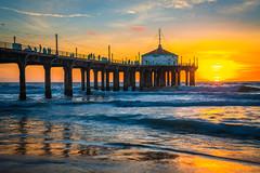 Manhattan Beach Pier Sunset Manhattan Beach Los Angeles Fuji GFX100 Fine Art Landscape Nature Photography California Seascape Ocean Art! Elliot McGucken Master Medium Format Nature Photographer Fuji GFX 100 & FUJIFILM FUJINON GF Lens