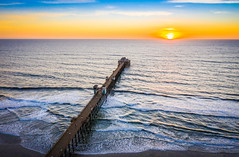 Oceanside Pier Sunset DJI Mavic 2 Pro Drone Aerial Photography San Diego Oceanside  Beach Fine Art Landscape Nature Photography California Seascape Ocean Art! Elliot McGucken Master Drone Aerial Photographer! Hasselblad Mavic 2 Pro L1D-20c 20 mp Camera!