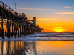 Oceanside Pier Red Orange Clouds Beautiful Sunset Southern California Fine Art Fuji GFX100 Landscape Photography! Ocean Art Seascape Medium Format Landscape Nature Photography Fuji GFX 100 FUJINON FUJIFILM GF 32-64mm f/4 R Lm Wr Wide-Angle Zoom Lens
