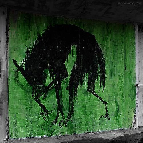 'Werewolf', Street Art Ghent, Belgium