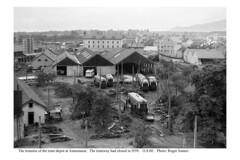 Annemasse. Remains of the tram depot. 13.8.60