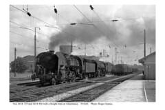 Annemasse. 141 R locos with freight train. 19.8.60