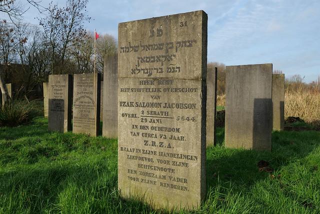 Photo:Restored gravestone of Izak Salomon Jacobson By René Vlak