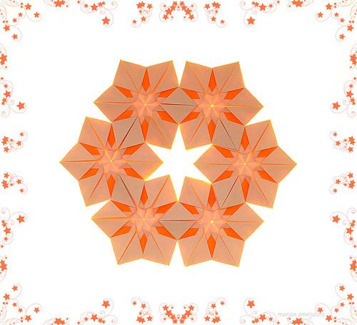 Origami Snow Crystal Coaster (Sayoko Kuwabara)