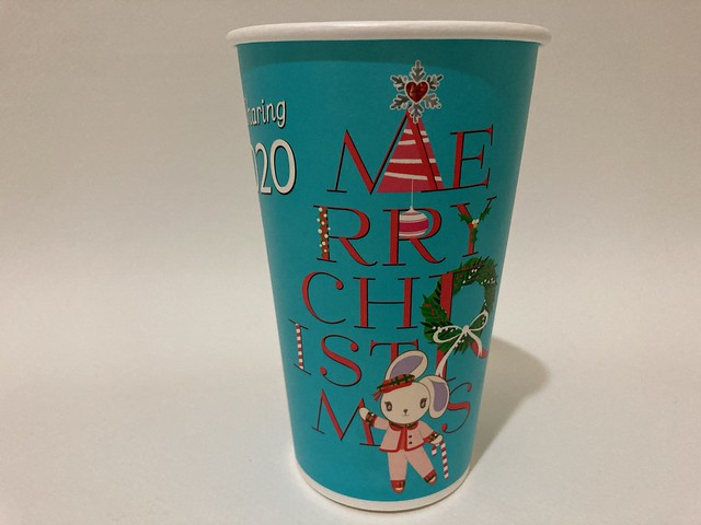 Photo:7-Eleven Taiwan CITY CAFE 愛 Sharing Xmas 波波 light blue By Majiscup Paper Cup 紙コップ美術館