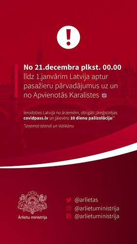 Informācija ceļotājiem sociālajos tīklos (Covid-19)