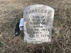 Gravestone at Cemetery in Forney - Sad