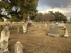 Gravestones at Cemetery in Forney