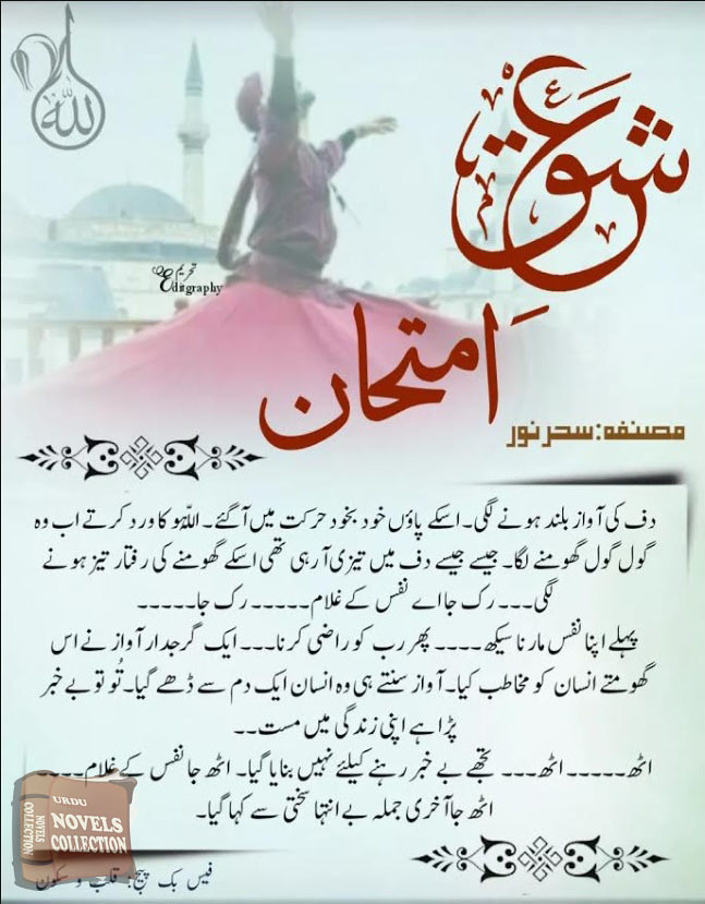 Ishq Imtehan is a beautifully urdu novel specialy written for urdu novel collection by Seher Noor.