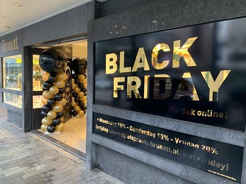 Ballonpilaar Breed Rond Black Friday Juwelier Brunott Rotterdam