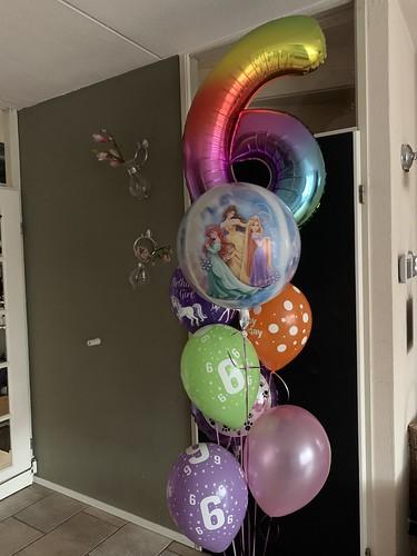 Ballonboeket Verjaardag 6 Jaar Disney Princessen