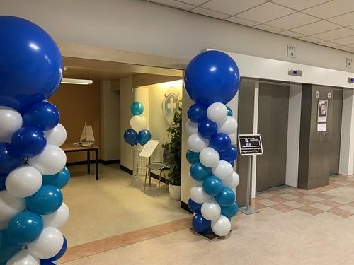 Ballonpilaar Breed Rond Havenpolikliniek Havenziekenhuis Rotterdam