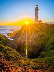 Pigeon Point Light Solstice Sunset California Fine Art Fuji GFX100 Landscape Photography! Ocean Art Seascape!  Elliot McGucken Master Medium Format Landscape Nature Photography Fuji GFX 100 & FUJINON FUJIFILM GF Lens