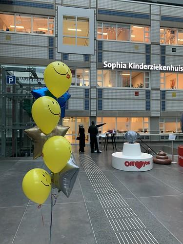 Ballonboeket Smiley Sterren Sophia Kinderziekenhuis Erasmus MC Rotterdam