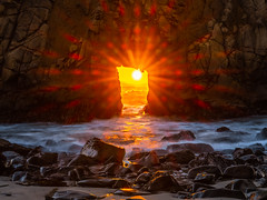 Big Sur Pfeiffer Beach Keyhole Rock Solstice Sunset California Fine Art Fuji GFX100 Landscape Photography! Ocean Art Seascape!  Elliot McGucken Master Medium Format Landscape Nature Photography Fuji GFX 100 & FUJINON FUJIFILM GF Lens