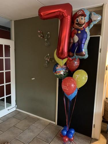 Ballonboeket Mario Bros Verjaardag 7 Jaar