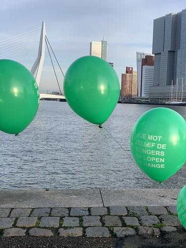 Heliumboog Erasmusbrug Rotterdam Rotterdamse Ballonnen