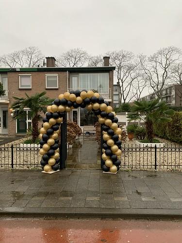 Ballonboog 6m Zwart Goud