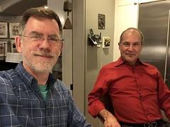 Paul and Jeff celebrate Christmas Eve, Dupont Circle, Washington, D.C.