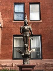 Modern sculpture at Embassy of Kazakhstan, 16th Street NW, Washington, D.C.