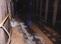 MTA Responds to Water Main Break on Central Park West