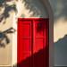 Shadows Across Red Door