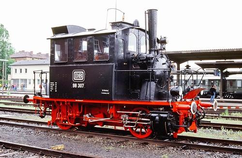 DB 98 307 (ex K.Bay.Sts.B. PtL 2/2 4529; Krauss München 1909) VM Nürnberg