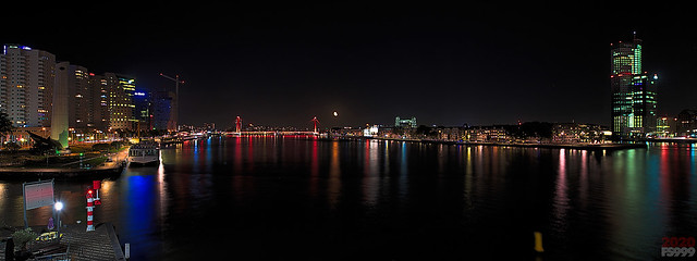 Photo:Moon Rise over the Red Bridge By fs999