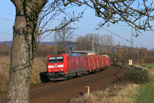 DB 185 005 + goederentrein/Güterzug/freight train - Burgstemmen