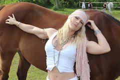 Fit Beauty and Brown Horse