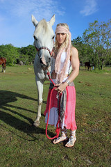 Sarah with a White Horse