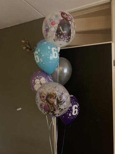 Ballonboeket Verjaardag 6 Jaar Disney Frozen