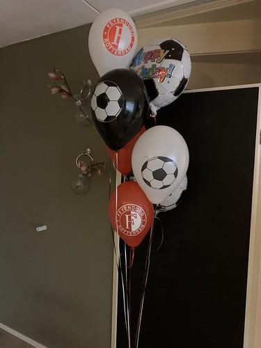 Ballonboeket Verjaardag Feyenoord Voetbal