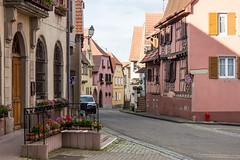 Mairie and Rue Principale, Bernardswiller, Alsace, France