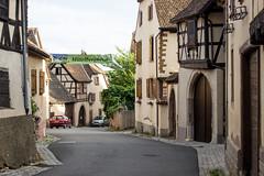 Rue de la Montagne, Mittelbergheim, Alsace, France