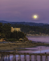 Full Moon Over Capitola Beach California