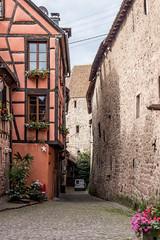 Rue des Casernes, Riquewihr, Alsace, France