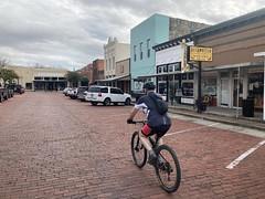 Dad on Farmersville Main Street