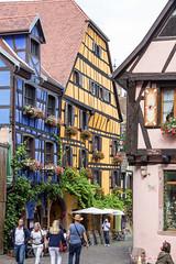 Rue du Général de Gaulle, Riquewihr, Alsace, France