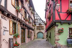 Rue du Cerf, Riquewihr, Alsace, France