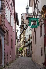 Rue des Juifs, Riquewihr, Alsace, France