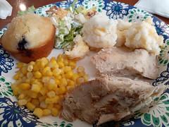 Chicken Dinner Plate.