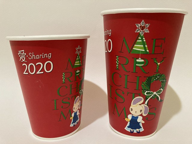 Photo:7-Eleven Taiwan CITY CAFE 愛 Sharing Xmas 波波 red By Majiscup Paper Cup 紙コップ美術館