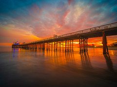 Malibu Pier Surf Riders Beach Solstice Sunset Colorful Red Orange Yellow Pink Clouds Southern California Fine Art Fuji GFX100 Landscape Photography! Ocean Art Seascape! Medium Format Landscape Nature Photography Fuji GFX 100 & FUJINON FUJIFILM GF Lens